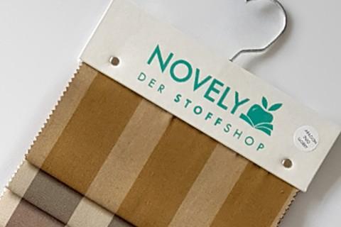 novely®  ARAGON DUO LLORET | Premium Outdoor Stoff | 100% dralon® | Baumwoll-Optik | lichtecht | UV beständig | Muster-Farbfächer