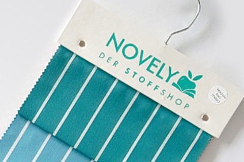 novely®  ARAGON DUO TOLEDO | Premium Outdoor Stoff | 100% dralon® | Baumwoll-Optik | lichtecht | UV beständig | Muster-Farbfächer