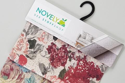 novely® HANAU ASTRID Polsterstoff gemustert | Muster-Farbfächer