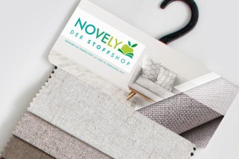 novely® AUEN Webstoff | Polsterstoff | Muster - Farbfächer