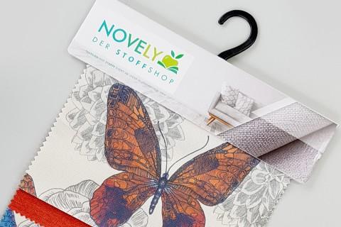 novely® BUBA Polsterstoff Möbelstoff Bezugsstoff | Muster-Farbfächer