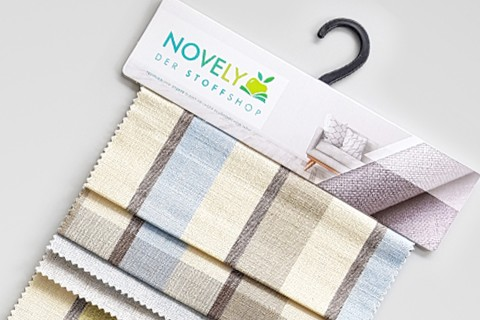 novely® FINN gestreifter Möbelstoff Polsterstoff Karo | Muster-Farbfächer