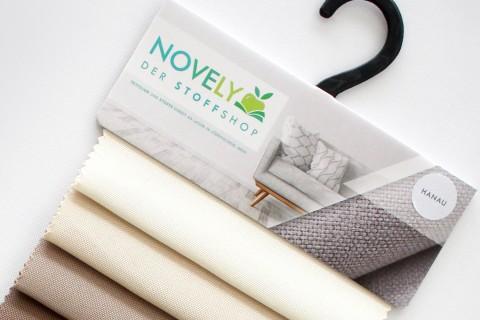 novely® HANAU UNI Möbelstoff | Polsterstoff | Muster-Farbfächer