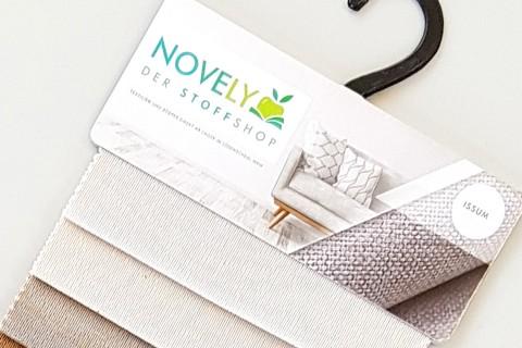 novely® ISSUM | samtig weicher Möbelstoff | Muster-Farbfächer