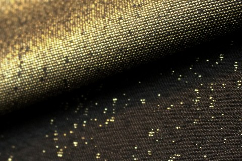 novely® JACQUARD Glitzerfaden SPRINKLED Polyester-Stoff I Schwarz Gold