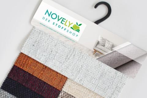 novely® LANZ Möbelstoff | Strukturstoff | Muster - Farbfächer