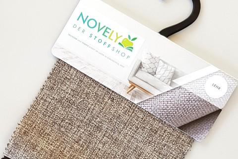 novely® LEHR leicht grob gewebter Polsterstoff meliert Möbelstoff | Muster-Farbfächer