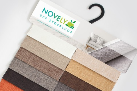 novely® LUSO Webstoff| Polsterstoff | Muster-Farbfächer