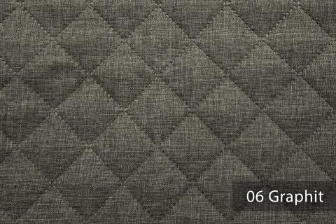 novely® LUSO Webstoff | 3-LAGIG gesteppt kaschiert | Volumen Polsterstoff | KARO RAUTE 5x5cm 06 Graphit