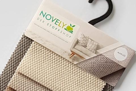 novely® MAKAO – moderner und kuscheliger Möbelstoff mit Wabenmuster, ultraweich | Muster-Farbfächer