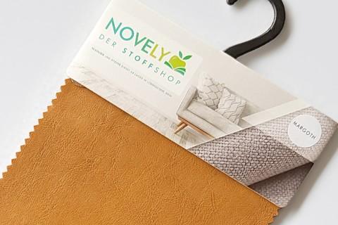novely® MARGOTH – Glattes glänzendes Kunstleder im Antik-Look | Muster-Farbfächer