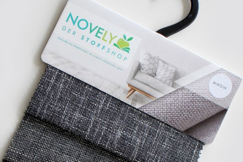 novely® MIROW Webstoff | Polsterstoff | Muster-Farbfächer