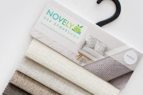 novely® MUDAU Möbelstoff | Polsterstoff | Muster-Farbfächer