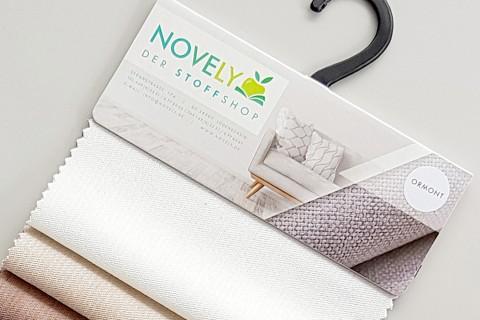novely® ORMONT | samtiger Chenille in 18 Farben | Muster-Farbfächer