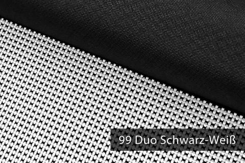 novely® OXFORD 2000D Polyester SCHWERER Stoff PVC Abdeckung Farbe 99 Duo Schwarz-Weiß