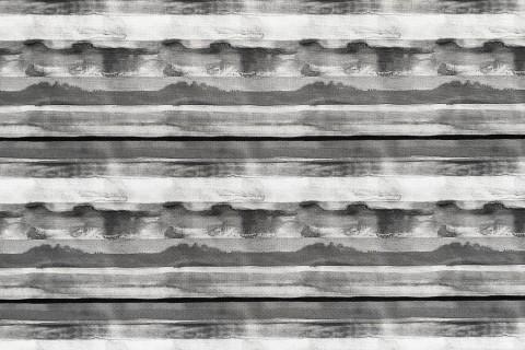 novely® OXFORD 210D Outdoor Print Stoff | Aquarell Streifen Grau