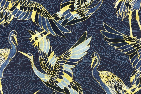 novely® OXFORD 210D Outdoor Print Stoff | Golden Heron