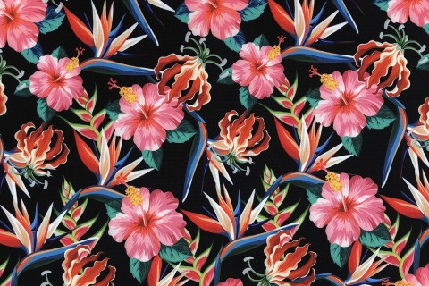 novely® OXFORD 210D Outdoor Print Stoff | Rose Mallow