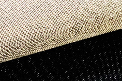 novely® JACQUARD 08G DOPPELSEITIG Metallic Polyester Stoff | anschmiegsam | Farbe 68 Gold