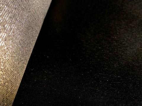 novely® JACQUARD 08SG DOPPELSEITIG Metallic Polyester Stoff | anschmiegsam | Schwarz Gold