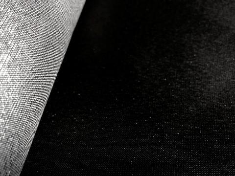 novely® JACQUARD 08S DOPPELSEITIG Metallic Polyester Stoff | anschmiegsam | Schwarz Silber