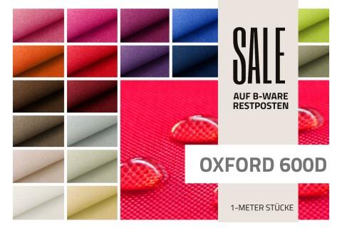 novely® OXFORD BIG Polyester 600D Stoff | Restposten | 2.Wahl | B-WARE