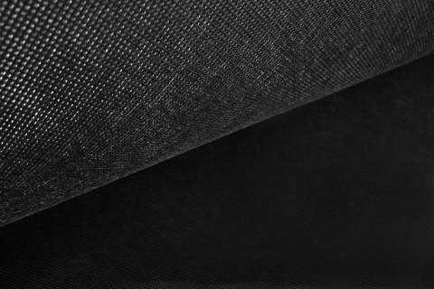 novely® Rückseitenvlies Spannvlies Inlettstoff Innenstoff  Polstervlies 120 g/m2 | 1 lfm x 160cm | Schwarz