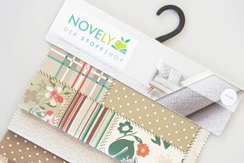 novely® HANAU VIVIEN Polsterstoff gemustert | Muster-Farbfächer