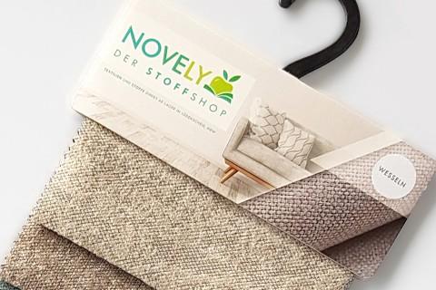 novely® WESSELN – extravaganter Möbelstoff mit Netz-Muster - Velours Polsterstoff | Muster-Farbfächer
