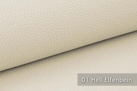 novely® exquisit OLIVERA - edles und weiches Lederimitat - schwer entflammbar | 01 Creme