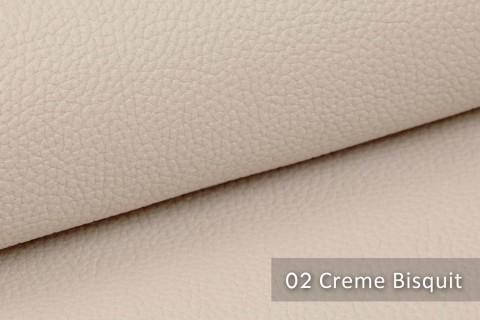 novely® exquisit OLIVERA - edles und weiches Lederimitat - schwer entflammbar | 02 Creme Bisquit