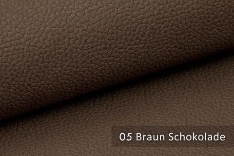 novely® exquisit OLIVERA - edles und weiches Lederimitat - schwer entflammbar | 05 Braun Schokolade