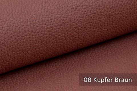 novely® exquisit OLIVERA - edles und weiches Lederimitat - schwer entflammbar | 08 Kupfer Braun