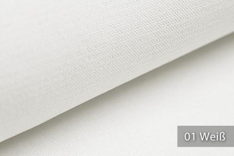 novely® ORMONT samtig weicher Chenille in 18 Farben Polsterstoff Möbelstoff | Farbe 01 Weiß