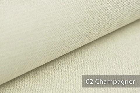novely® ORMONT samtig weicher Chenille in 18 Farben Polsterstoff Möbelstoff | Farbe 02 Champagner