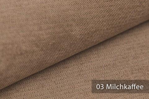 novely® ORMONT samtig weicher Chenille in 18 Farben Polsterstoff Möbelstoff   Farbe 03 Milchkaffee