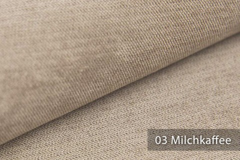 novely® ORMONT samtig weicher Chenille in 18 Farben Polsterstoff Möbelstoff | Farbe 03 Milchkaffee