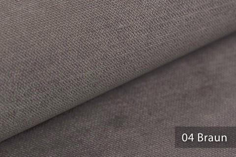 novely® ORMONT samtig weicher Chenille in 18 Farben Polsterstoff Möbelstoff | Farbe 04 Braun