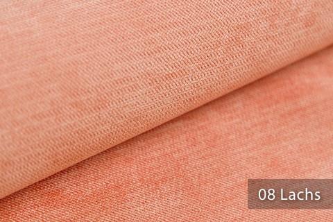 novely® ORMONT samtig weicher Chenille in 18 Farben Polsterstoff Möbelstoff   Farbe 08 Lachs