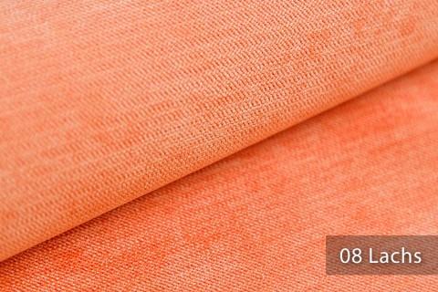 novely® ORMONT samtig weicher Chenille in 18 Farben Polsterstoff Möbelstoff | Farbe 08 Lachs