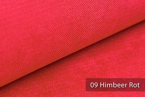 novely® ORMONT samtig weicher Chenille in 18 Farben Polsterstoff Möbelstoff | Farbe 09 Himbeer Rot