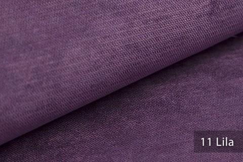 novely® ORMONT samtig weicher Chenille in 18 Farben Polsterstoff Möbelstoff | Farbe 11 Lila