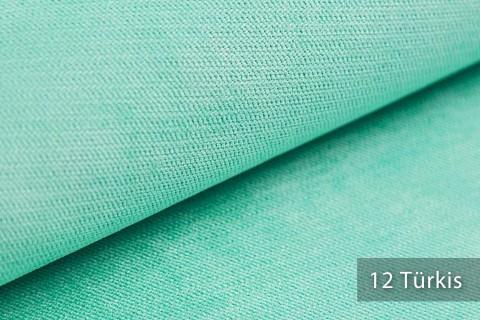 novely® ORMONT samtig weicher Chenille in 18 Farben Polsterstoff Möbelstoff | Farbe 12 Türkis