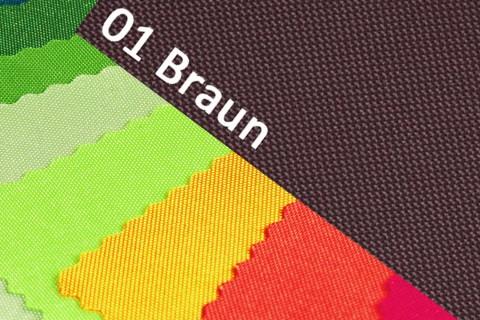 novely® OXFORD 600D Polyester Stoff PVC Segeltuch Farbe 01 Braun