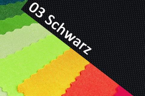 novely® OXFORD 600D Polyester Stoff PVC Segeltuch Farbe 03 Schwarz
