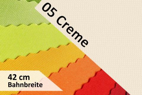 novely® OXFORD 600D | 42cm Bahnbreite | Tischläufer | Polyester Stoff PVC Segeltuch Farbe 05 Creme