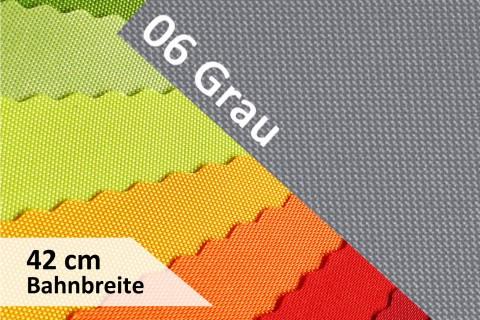 novely® OXFORD 600D | 42cm Bahnbreite | Tischläufer | Polyester Stoff PVC Segeltuch Farbe 06 Grau