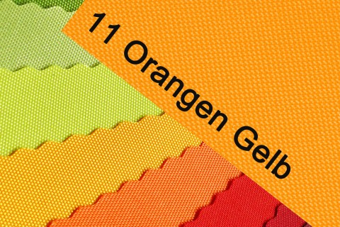 novely® OXFORD 600D Polyester Stoff PVC Segeltuch Farbe 11 Orangen Gelb