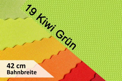 novely® OXFORD 600D | 42cm Bahnbreite | Tischläufer | Polyester Stoff PVC Segeltuch Farbe 19 Kiwi-Grün