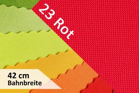 novely® OXFORD 600D | 42cm Bahnbreite | Tischläufer | Polyester Stoff PVC Segeltuch Farbe 23 Rot